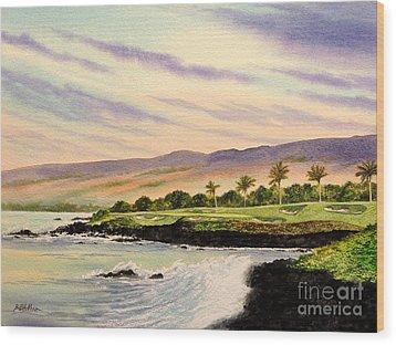 Mauna Kea Golf Course Hawaii Hole 3 Wood Print by Bill Holkham