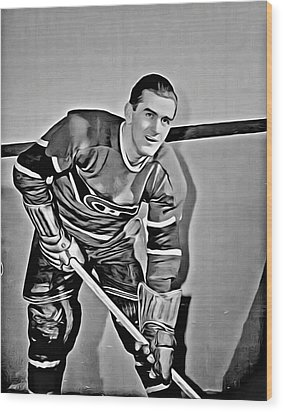 Maurice Richard Wood Print by Florian Rodarte