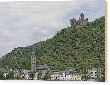 Maus Castle In Germany Wood Print by Oscar Gutierrez