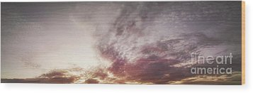 Mauve Skies Wood Print by Holly Martin