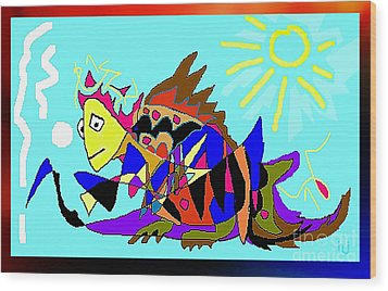 Wood Print featuring the digital art Max The Magic Dragon by Hartmut Jager