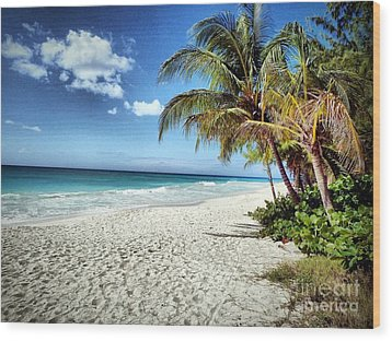 Maxwell Beach Barbados Wood Print by Polly Peacock