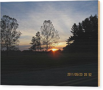 May 23 Sunset One Wood Print