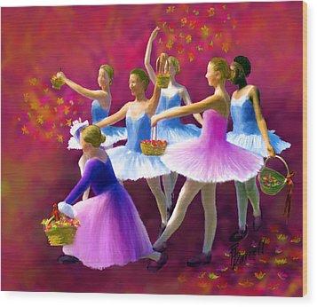 May Dancers Wood Print by Ric Darrell