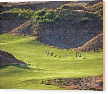 May I Play Through? - Chambers Bay Golf Course Wood Print