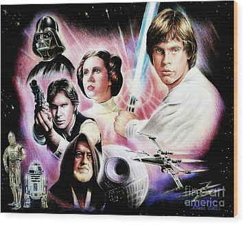 May The Force Be With You 2nd Version Wood Print by Andrew Read