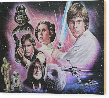 May The Force Be With You Wood Print by Andrew Read