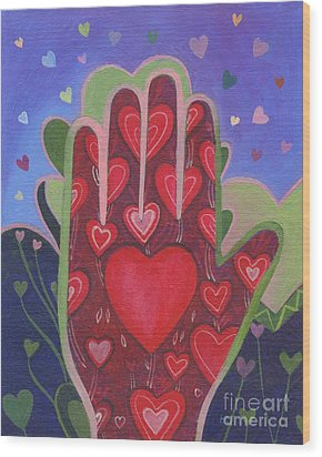 May We Choose Love Wood Print by Helena Tiainen