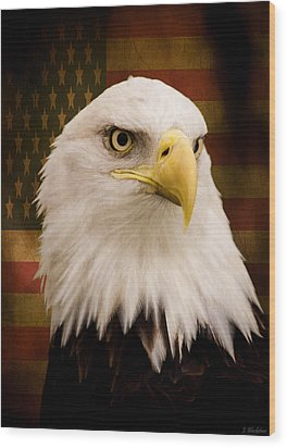 May Your Heart Soar Like An Eagle Wood Print by Jordan Blackstone