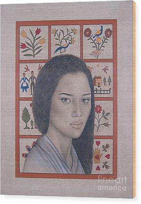 Maya Wood Print by Lynet McDonald