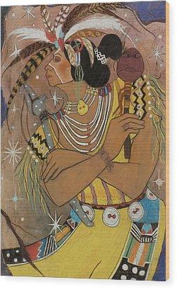 Mayan Ceremonial Dance Wood Print
