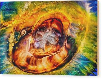 Mayan God Wood Print by Omaste Witkowski