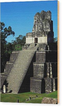 Mayan Ruins - Tikal Guatemala Wood Print by Juergen Weiss