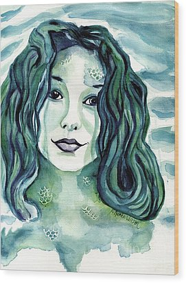 Maybe I'm A Mermaid Wood Print