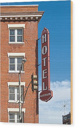 Mayfair Hotel - Pomona California Wood Print by Gregory Dyer