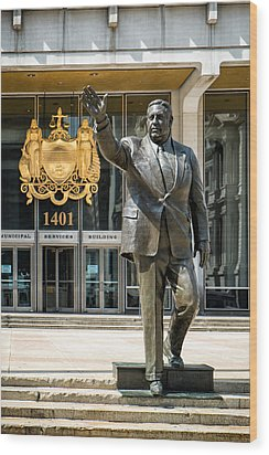 Mayor Frank L. Rizzo Monument Wood Print