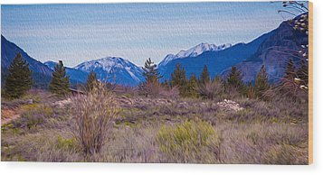Mazama From Wolf Creek Wood Print by Omaste Witkowski