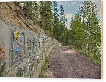 Mazama Suspension Bridge Trail Wood Print by Omaste Witkowski