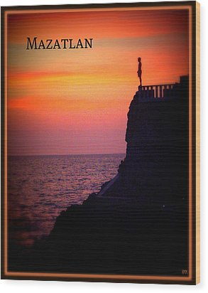 Wood Print featuring the photograph Mazatlan Diver by Heidi Manly