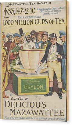 Mazawattee 1890s Uk John Bull Tea Wood Print by The Advertising Archives