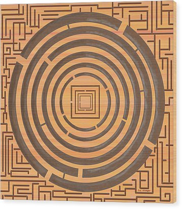 Maze 2 Wood Print by Tim Stringer