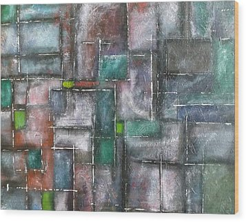 Maze Wood Print by Nicholas Juhl