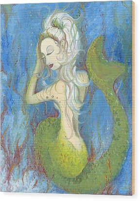 Mazzy The Mermaid Princess Wood Print