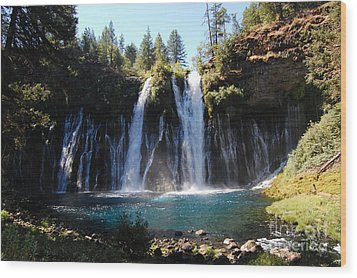 Wood Print featuring the photograph Mcarthur-burney Falls 2 by Debra Thompson