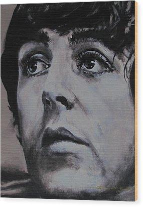 Mccartneys Eyes Wood Print by Eric Dee