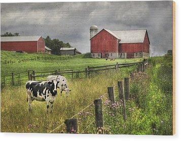 Mcclure Farm Wood Print by Lori Deiter