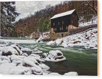 Mcconnell's Mill Wood Print by Marcia Colelli