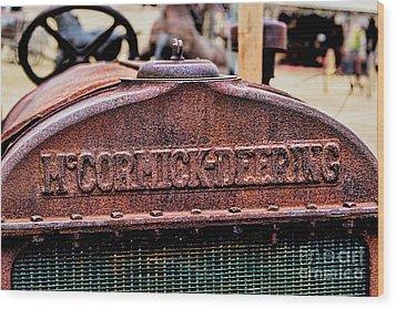 Mccormic Deering Wood Print by Jon Burch Photography