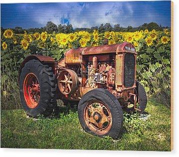 Mccormick Deering Wood Print by Debra and Dave Vanderlaan