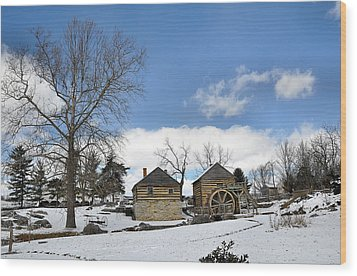 Mccormick Farm In Winter Wood Print by Todd Hostetter