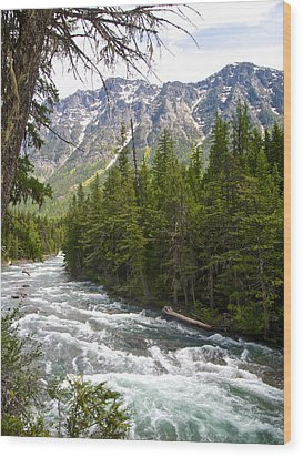 Mcdonald Creek In Glacier Np-mt Wood Print