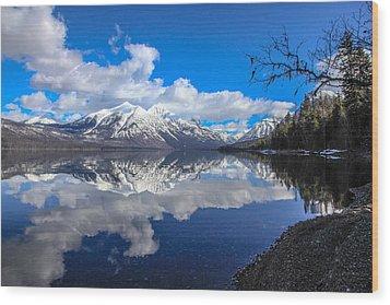 Mcdonald Reflecting Wood Print by Aaron Aldrich