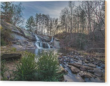 Mcgalliard Falls Wide View Wood Print by Randy Scherkenbach