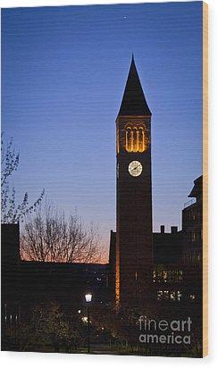 Mcgraw Tower Cornell University Wood Print