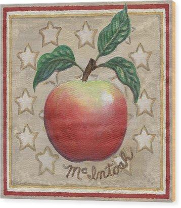 Mcintosh Apple Two Wood Print by Linda Mears