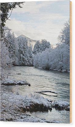 Mckenzie River Wood Print by Belinda Greb