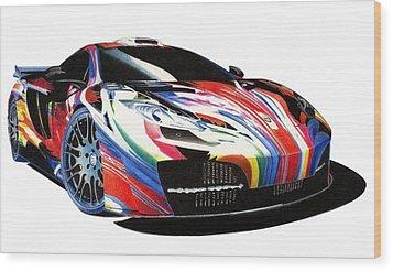 Mclaren Art Car Wood Print by Lyle Brown