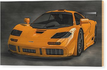 Mclaren F1 Lm Wood Print by Louis Ferreira