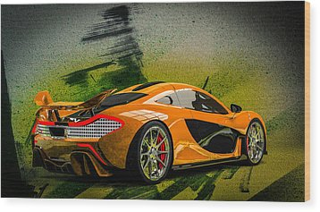 Mclaren P1 Wood Print by Louis Ferreira