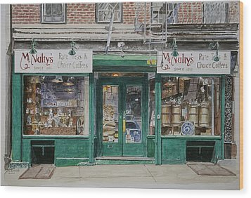 Mcnultys Coffee Wood Print by Anthony Butera