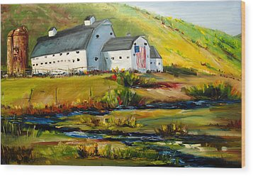 Mcpolin Park City Utah Barn Wood Print