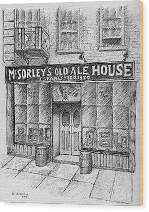Mcsorleys Ale House Wood Print