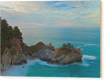 Mcway Falls At Sunrise Wood Print