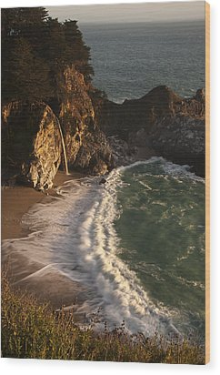 Wood Print featuring the photograph Mcway Falls 2 by Lee Kirchhevel