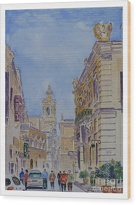 Mdina Malta Wood Print
