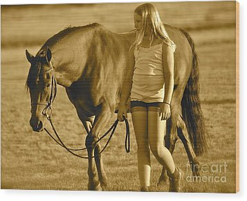 Wood Print featuring the photograph Me And My Pony by Barbara Dudley